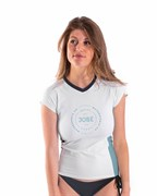 Гидромайка лайкр. жен. JOBE Rash Guard Shortsleeve Women V-Neck White
